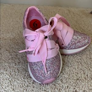 NEW Cynthia Rowley Pink Glitter Sneakers